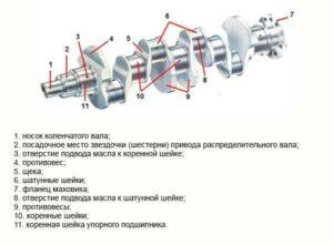 Особенности и функции коленвала двигателя